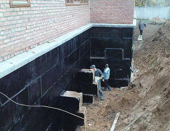 Строительство фундамента, гидроизоляция, марка бетона мастика битумно масляная мб